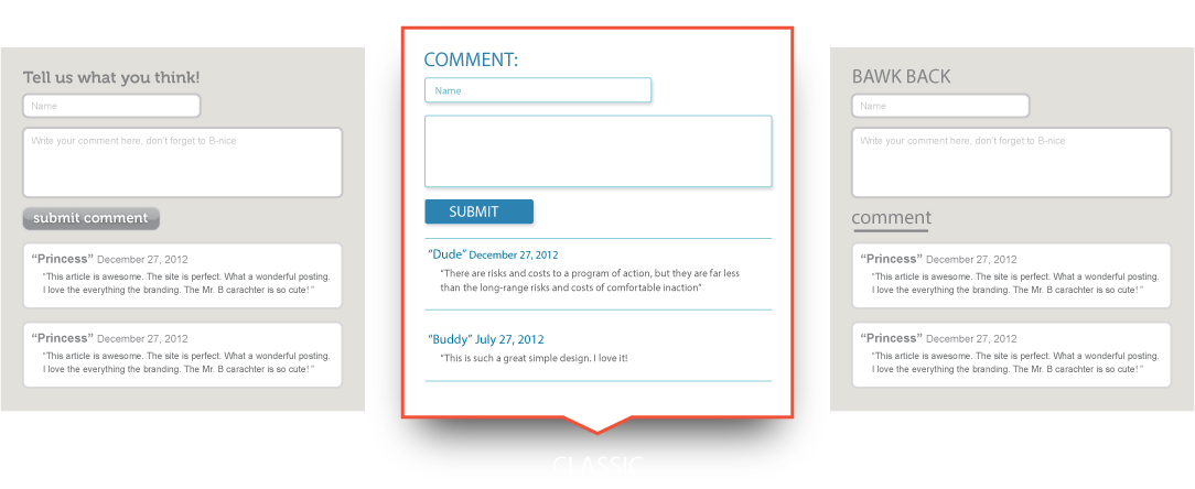 Html comment box hosted website comments for Comments html template