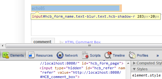 using commentbox with firebug